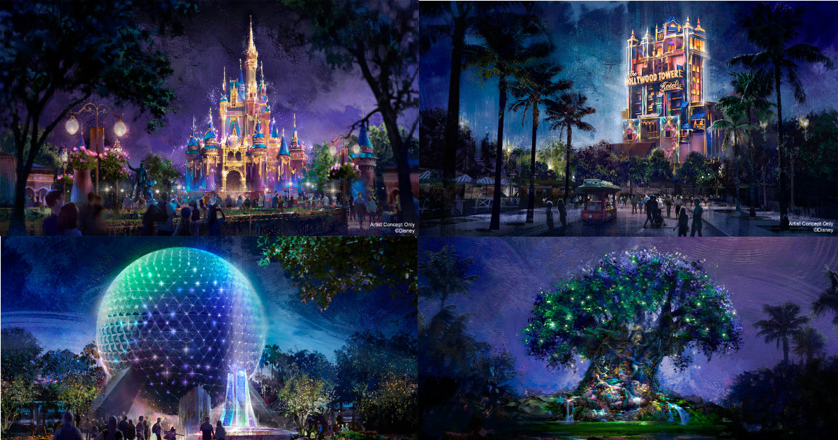 Disney Reveals 50th Anniversary Park Icon Concept Art