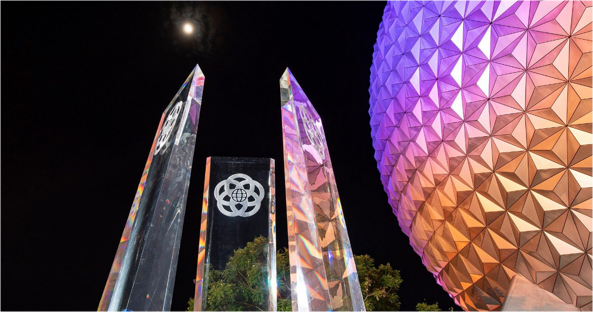 Disney Reveals New Spaceship Earth Pylons At Epcot