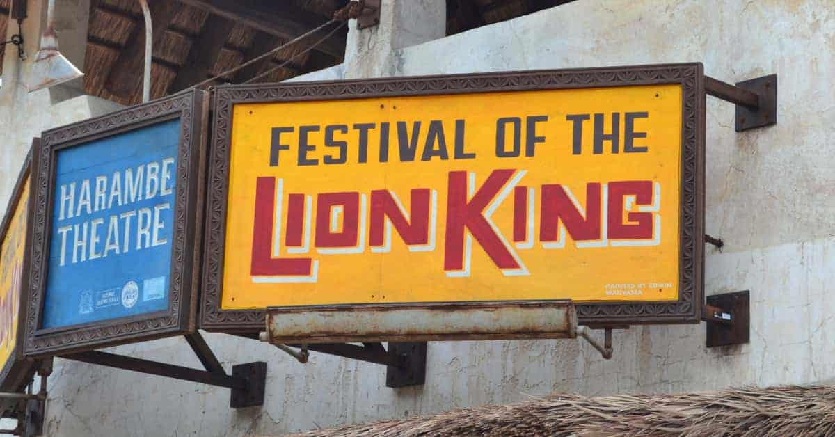 Festival Of The Lion King To Return Summer 2021
