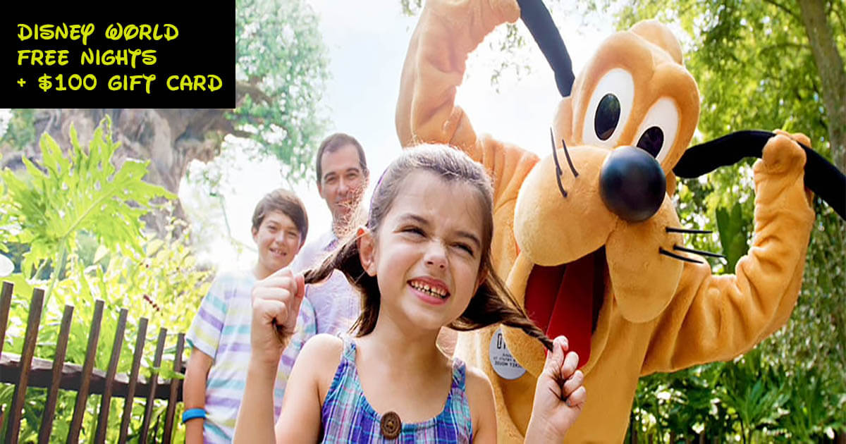 Disney World Free Nights + $100 Gift Card Offer NOW LIVE