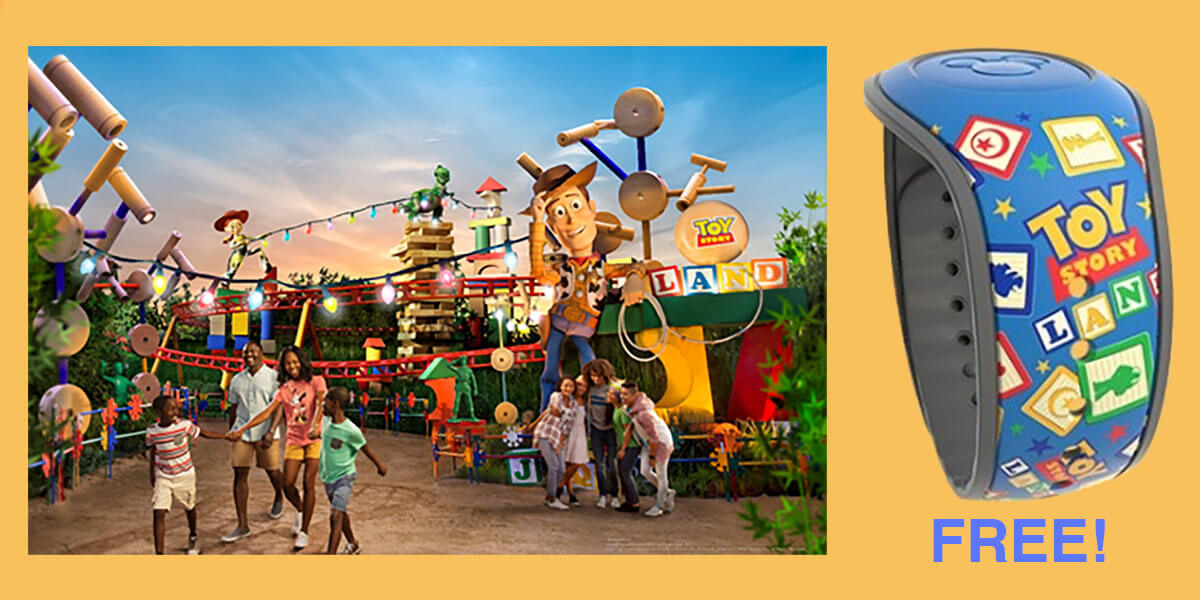 [LIMITED OFFER] FREE Toy Story Land MagicBand With Ultimate Ticket Purchase