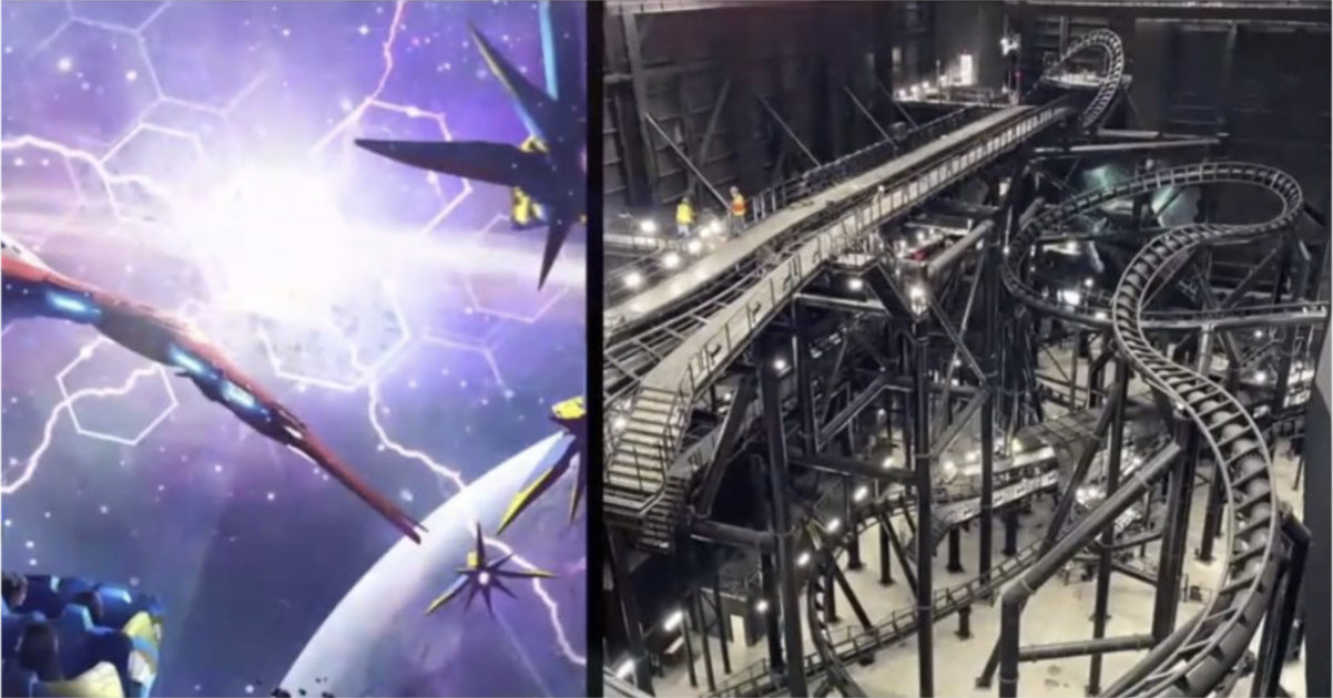 First Look Inside Guardians of the Galaxy: Cosmic Rewind Coaster Track