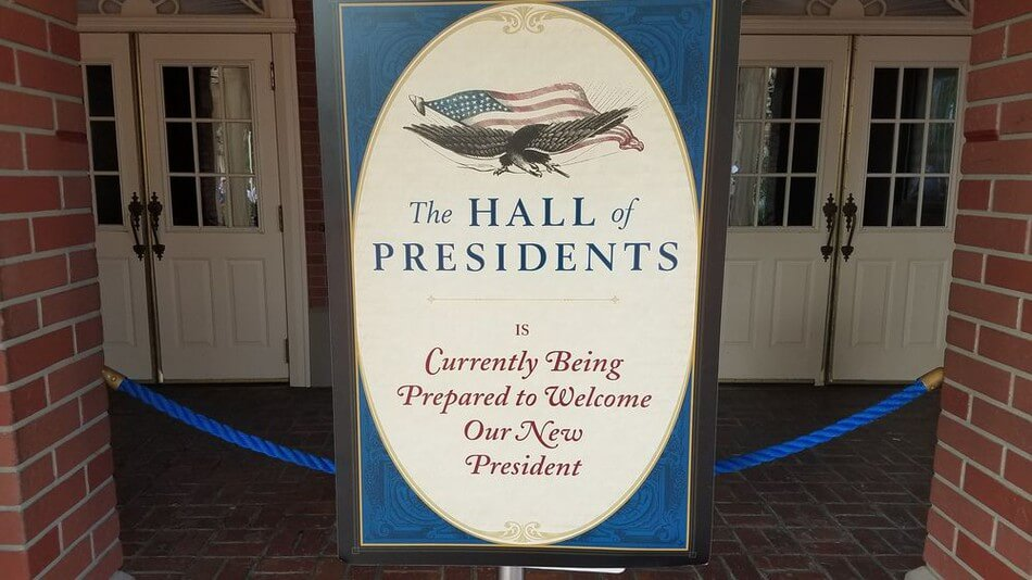 Trump Protester Disrupts Hall Of Presidents