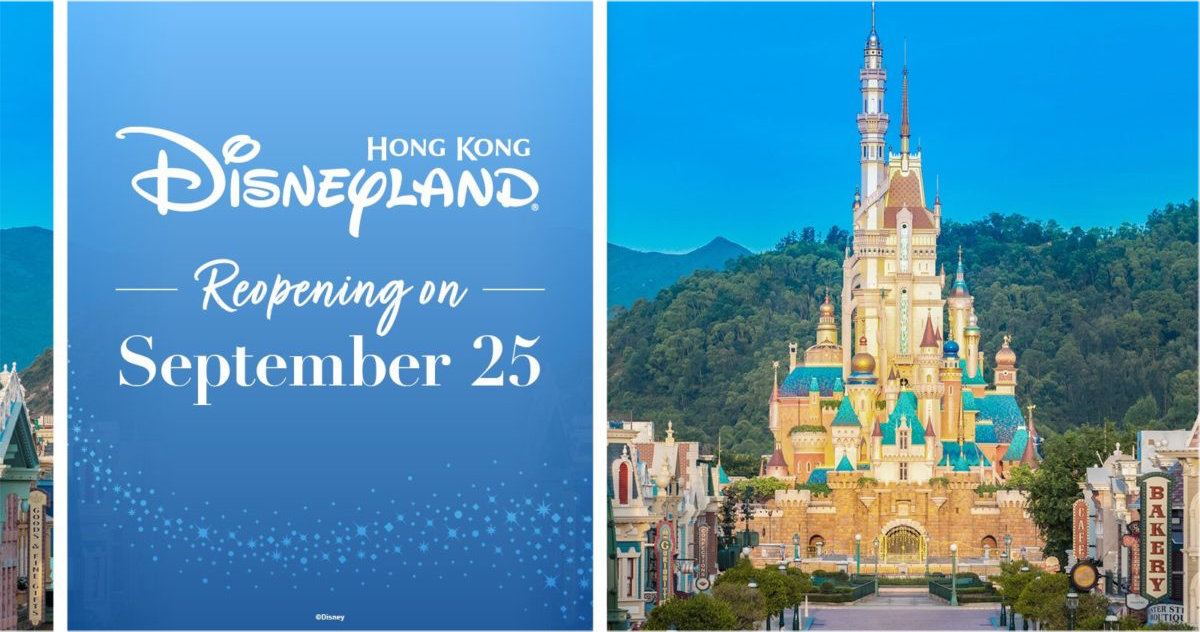 Hong Kong Disneyland To Reopen On September 25