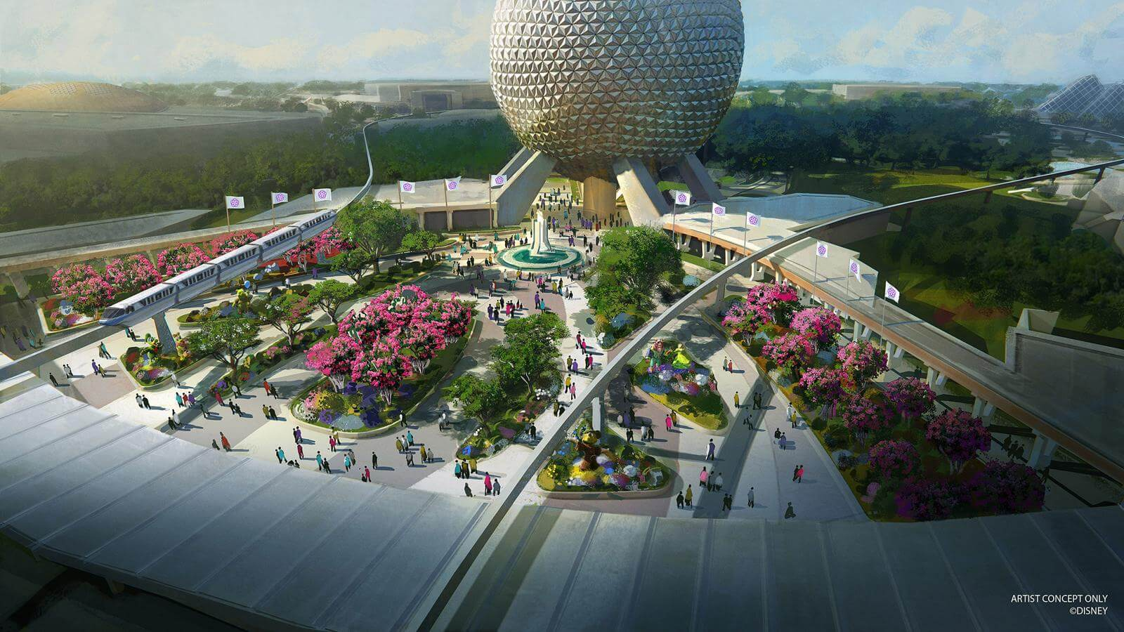 Epcot Overhaul Begins With Character Spot, Electric Umbrella and Starbucks Closures