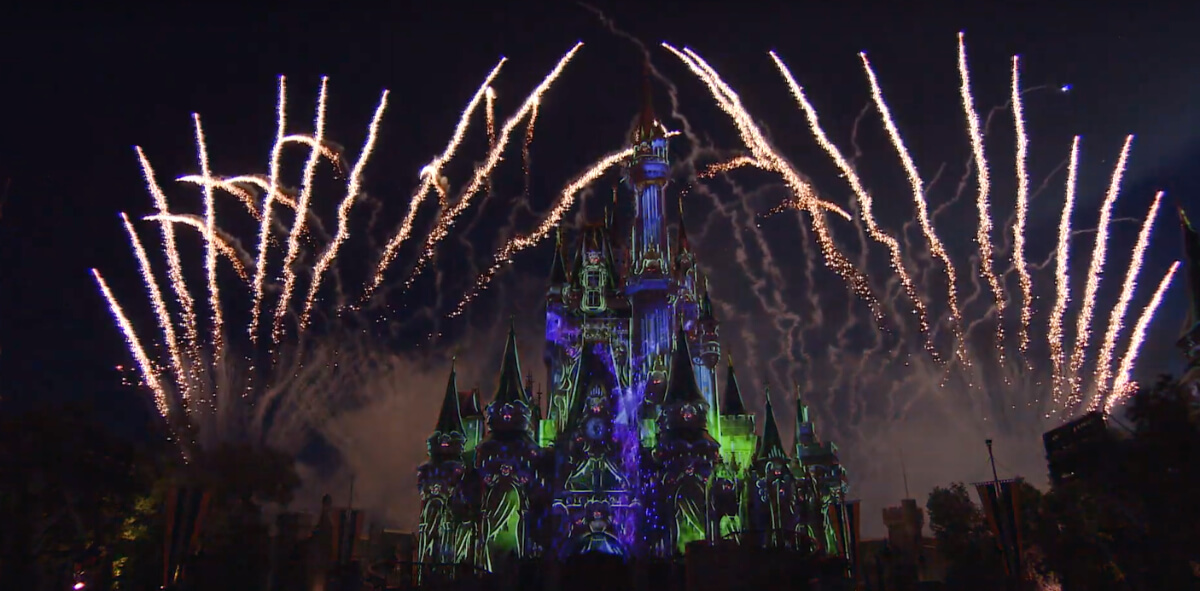 Disney Offers First Look At New Halloween Fireworks Show