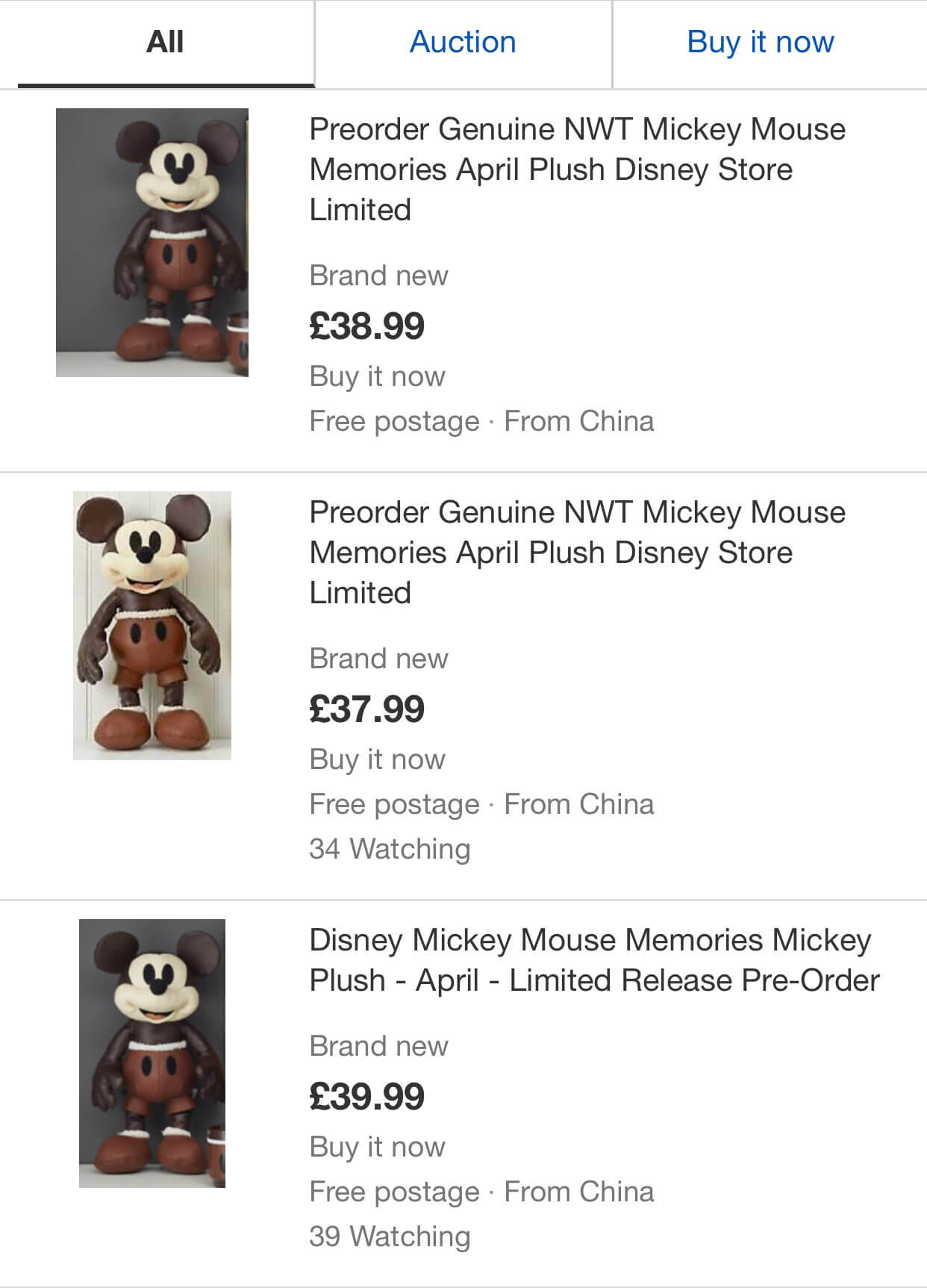 Dating disney items on ebay