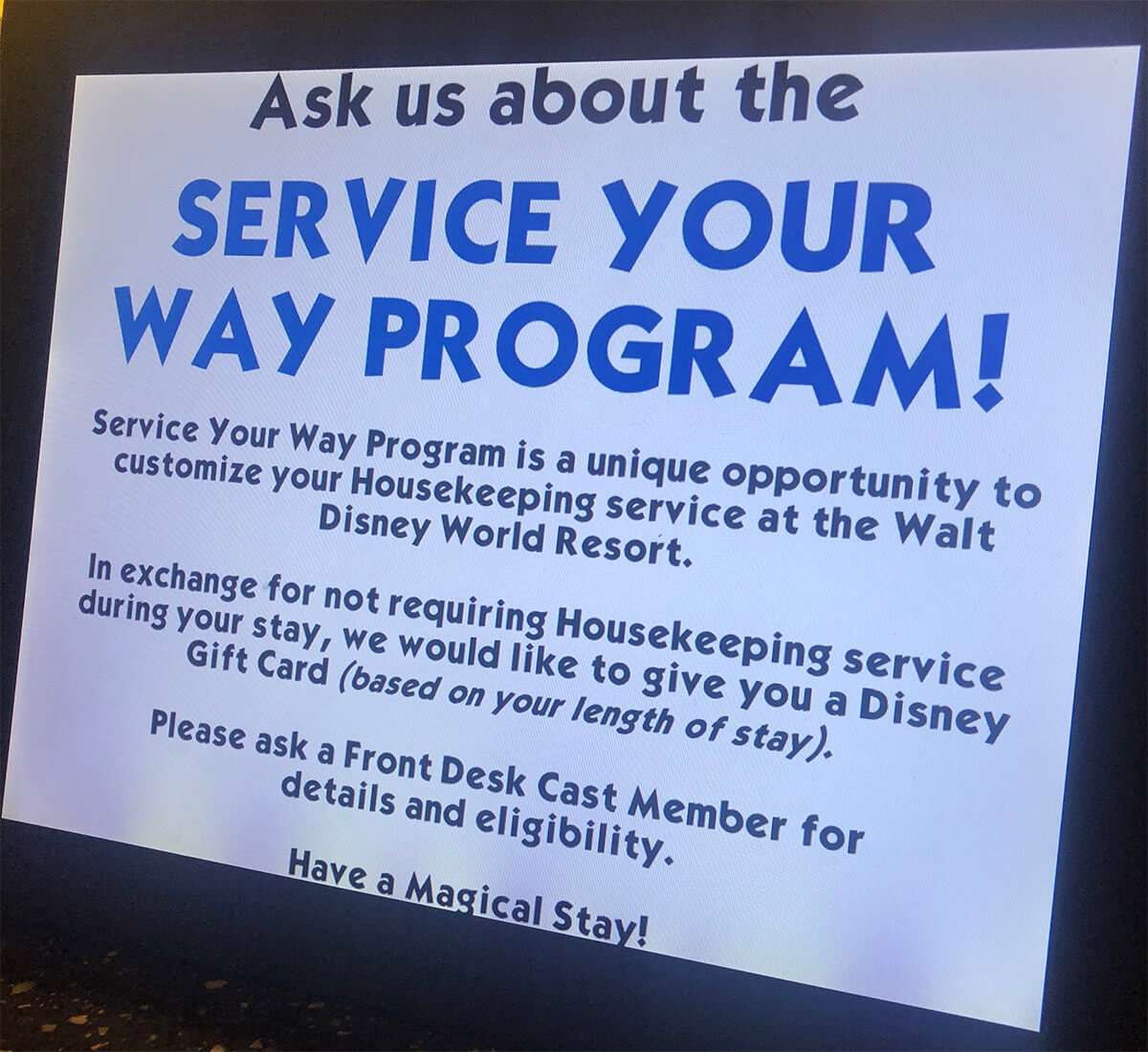 Service Your Way Option Now A Permanent Disney Resort Option