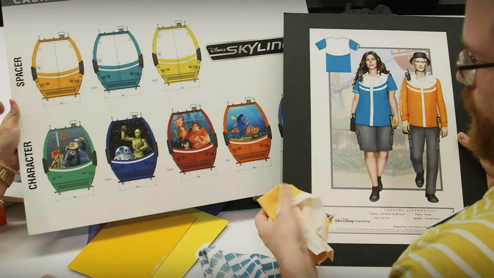 Disney Shares Video About Disney Skyliner Cast Member Costumes