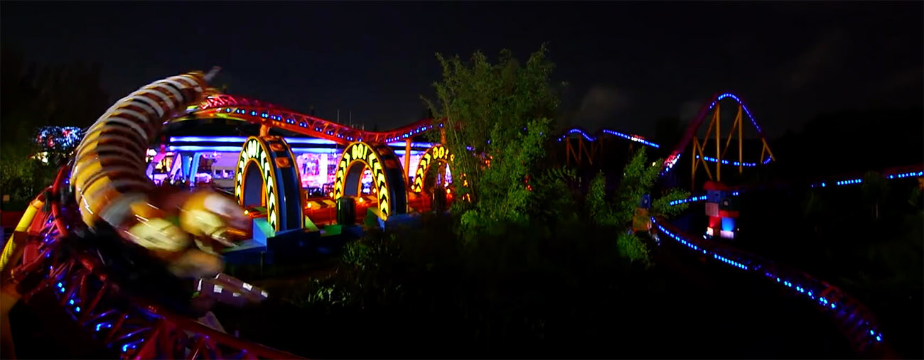 Disney Shares How Toy Story Land Looks At Night