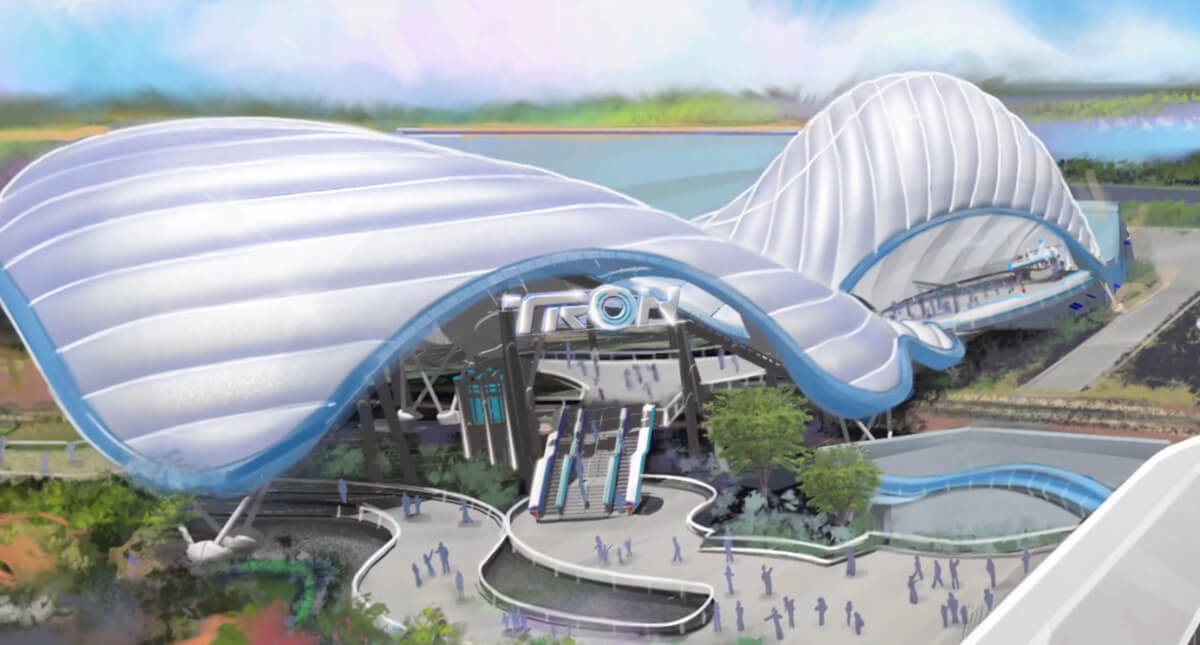 Disney Celebrate TRON Attraction Progress