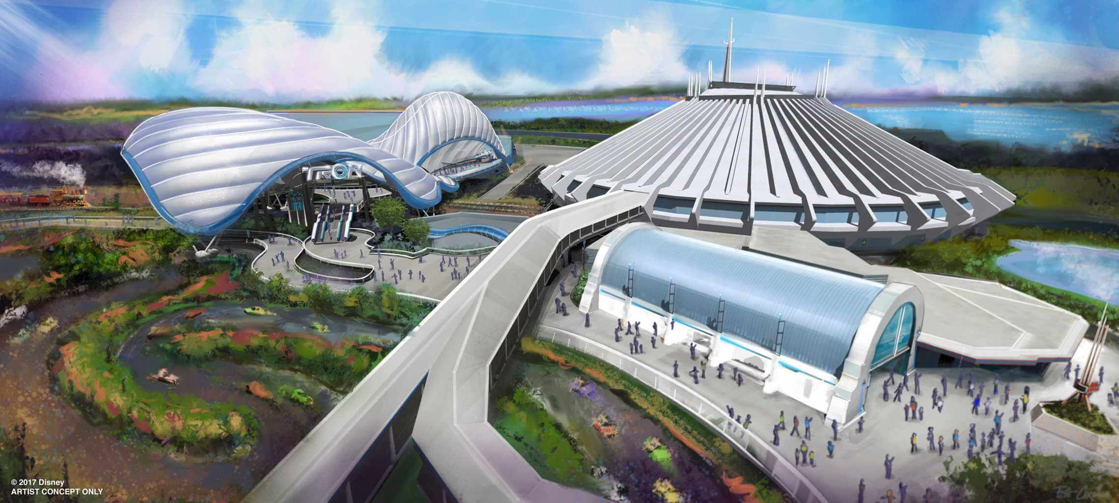 Tron Rollercoaster At Magic Kingdom Plans Revealed