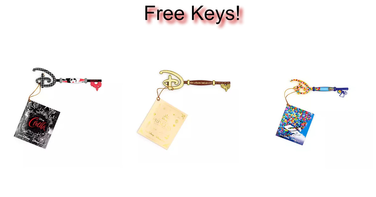 3 FREE Keys With Any £40 ShopDisney Spend
