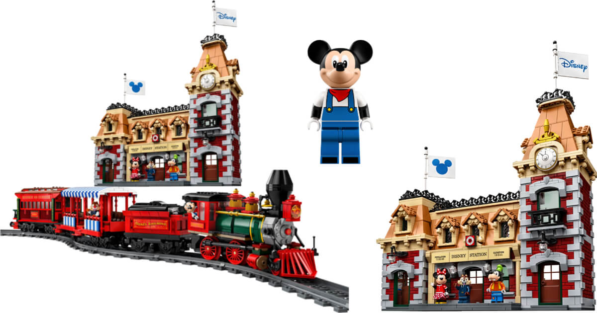 New Lego Disney Parks Train Station Set