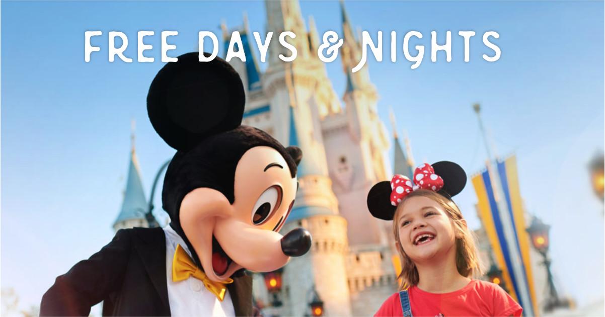 Disney World 2020 Free Nights Offer