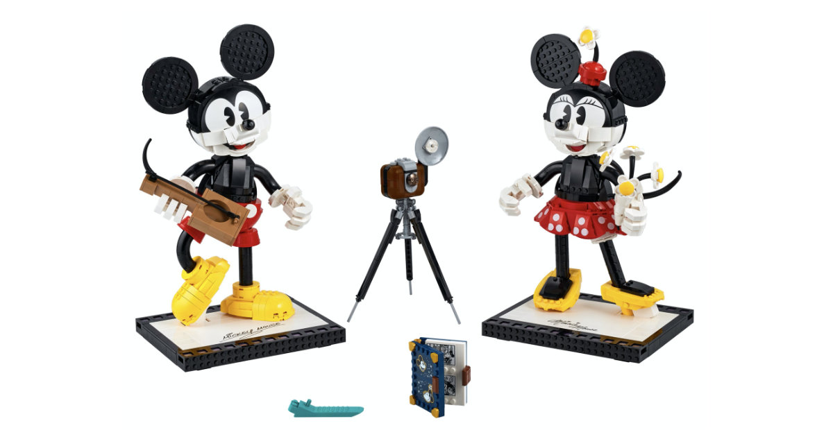 New Lego Mickey Mouse And Minnie Mouse Buildable Characters