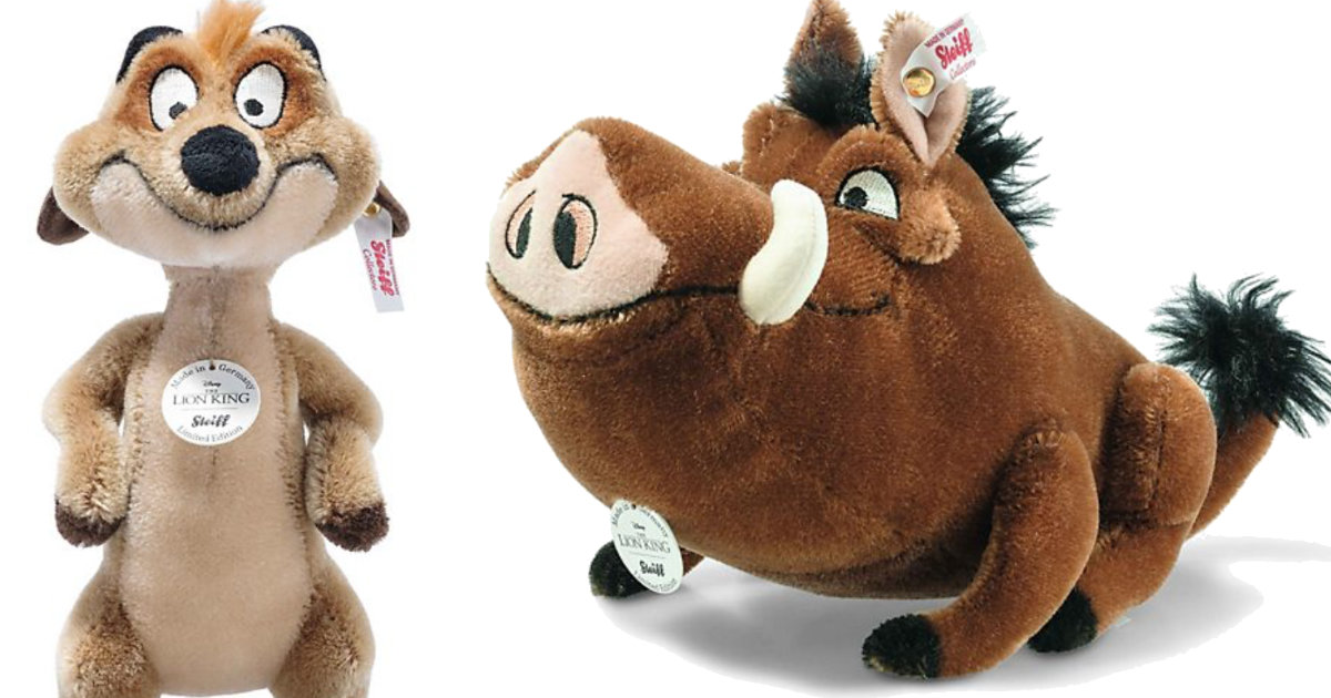 Timon And Pumbaa Steiff Now Available To Order
