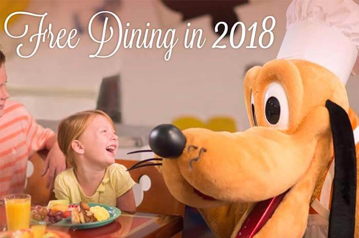 Free Disney World Dining Offer 2018