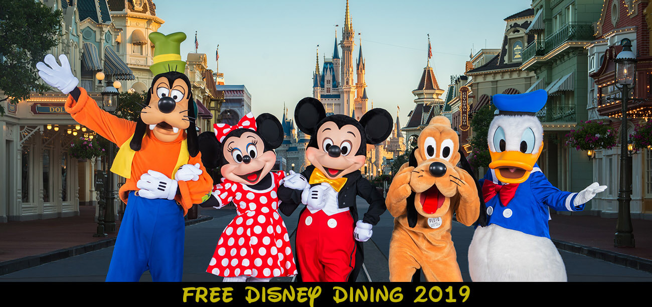 Free Disney World Dining Offer 2019