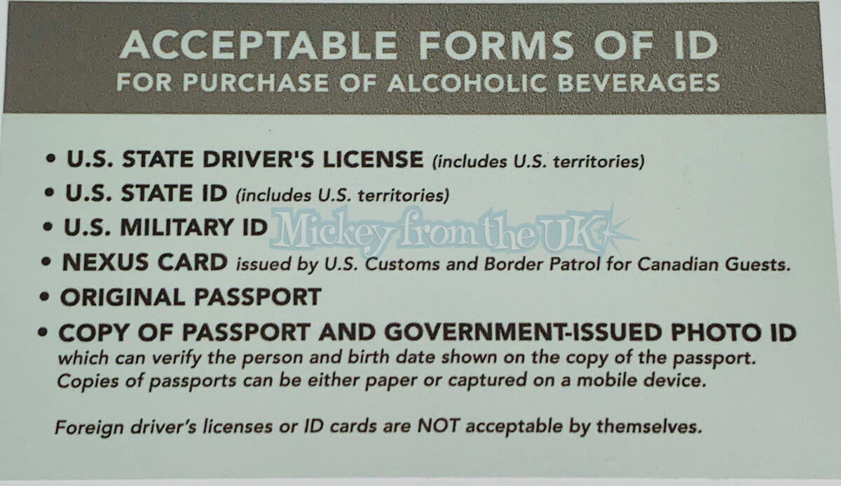 What ID Is Accepted At Disney World